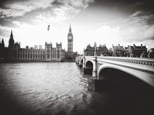 Westminster Bridge Over River Thames Against Big Ben