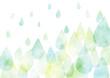 canvas print picture - 雨 水彩 テクスチャ 背景