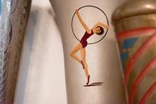 Drawing Of A Gymnast On A Spor...