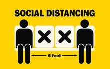 Social Distancing Sign. Bus St...