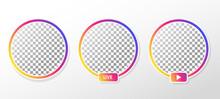Gradient Circle Profile Frame ...