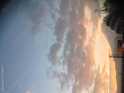 Fototapety, obrazy: Structure On Field Against Sky At Sunrise