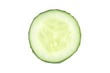Close Up Of Green Cucumber Sli...