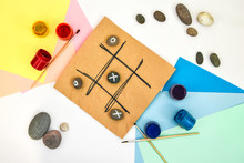 Top View Of Tic Tac Toe Game W...