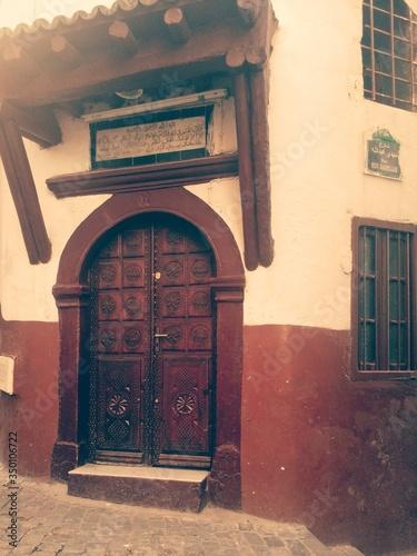 Fényképezés Ornate Door Of Mosque At Casbah Of Algiers