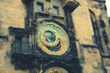 Low Angle View Of Prague Astronomical Clock Tower