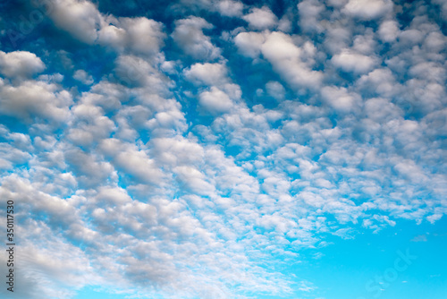 Photo Blue sky background with white clouds