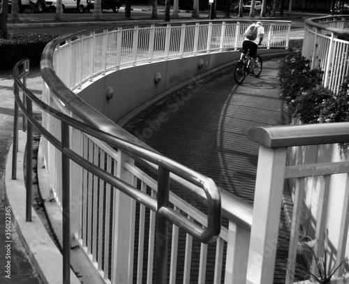 Man Riding Bicycle On Ramp Canvas