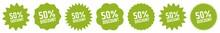 50 Percent Discount Tag Green ...