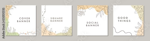 Fototapeta Sale square banner template for social media posts, mobile apps, banners design and web/internet ads. Trendy abstract square template with colorful concept. obraz na płótnie