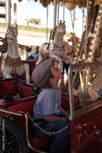 Valokuvatapetti Side View Of Merry-go-round