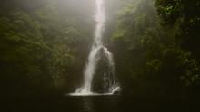 Waterfall And Fog