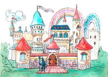 Little Fairy Castle With Rainb...