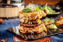 Pan-Asian Cuisine Concept. Ram...