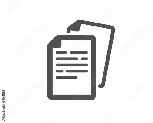 Fototapety, obrazy: Documents icon. Doc file page sign. Office note symbol. Classic flat style. Quality design element. Simple documents icon. Vector
