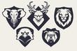 Mascot Animals Emblems Vector Set