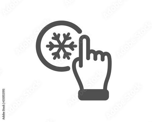 Obraz na plátně Freezing click icon