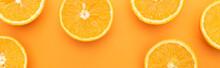 Top View Of Ripe Juicy Orange ...