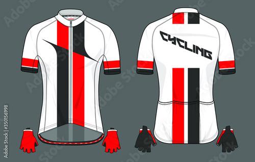 Cycling jersey uniform a vector template design Fototapet