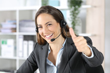 Happy Telemarketer With Thumbs...