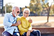 Senior Couple Happy Elderly Lo...