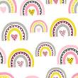 Vetor seamless pattern with cute rainbows