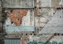 台湾の古いビルの壁 ...