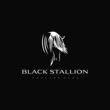 Black Stallion Logo Design. Aw...