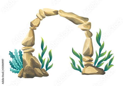 Underwater sandstone arch Canvas Print
