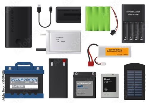 Rechargeable batteries Canvas Print