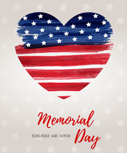 Usa Memorial Day Holiday Background