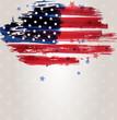 Grunge USA flag with stars background