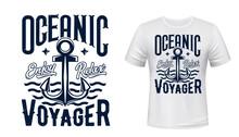 Sail Ship Anchor, T-shirt Prin...