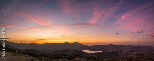 Valokuva Panoramic view of sunset in Corsica