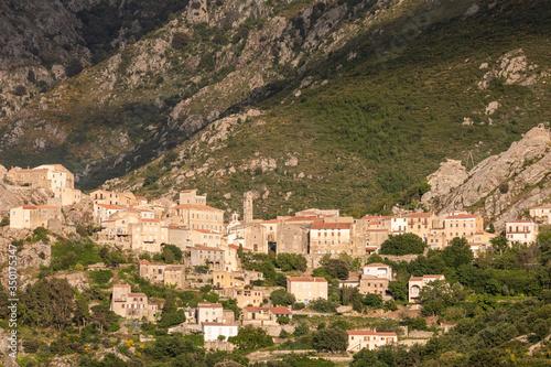 Ancient village of Speloncato in Corsica Canvas-taulu