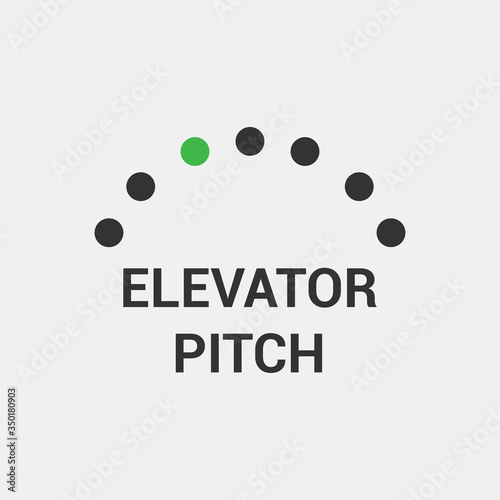 Elevator Pitch Icon. Vector Illustrator Canvas Print