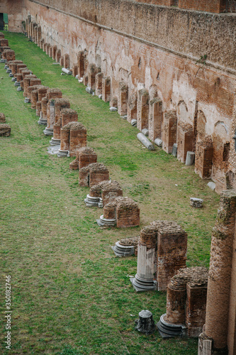 Fototapeta Ruins of ancient Stadium Domitian on the Palatine Hill in Rome, Italy