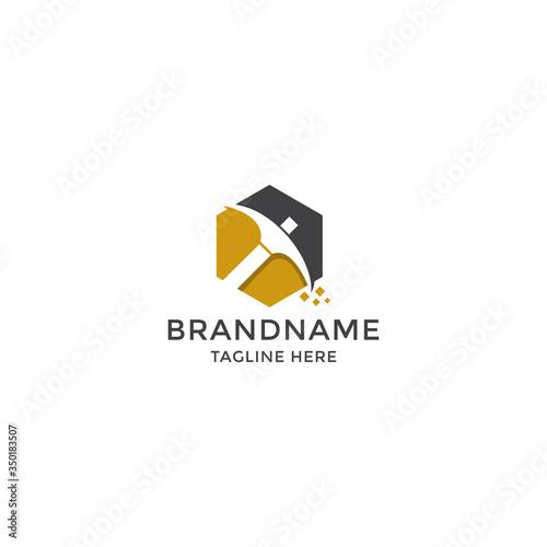 Fotografía Mining logo icon design template vector illustration