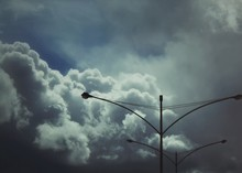 Lamp Post With Cloudscape