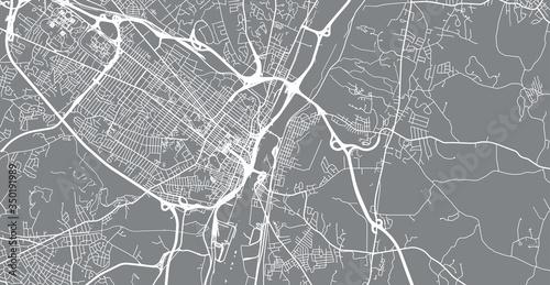 Fotografia, Obraz Urban vector city map of Albany, USA. New York state capital