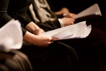 Young Woman Reading A Script
