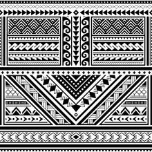 Polynesian Tattoo Seamless Vec...