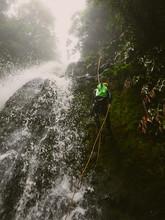 Man On Waterfall