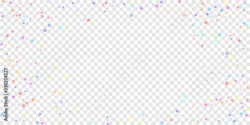 Fotomural Festive confetti. Celebration stars. Colorful star