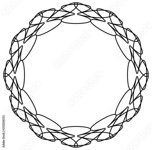 Vintage round pattern Canvas-taulu