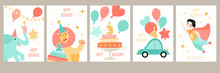 A Set Of Birthday Cards For A ...