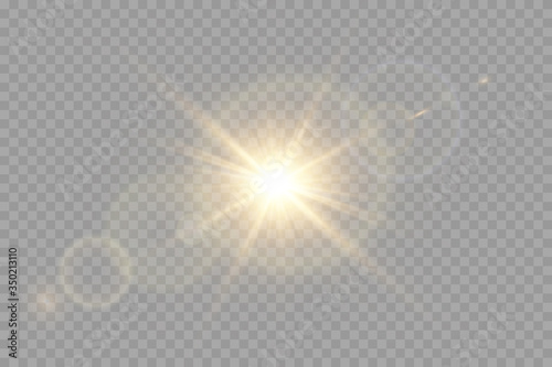 Obraz Vector transparent sunlight special lens flare light effect. - fototapety do salonu