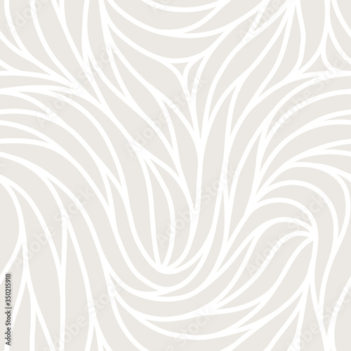 Tapeta beżowa  elegant-seamless-floral-pattern-wavy-vector-abstract-background-stylish-modern-monochrome-linear-texture