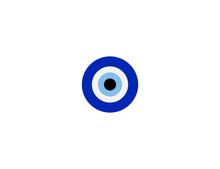 Nazar Amulet Vector Flat Icon. Isolated Nazar Eye Emoji Illustration