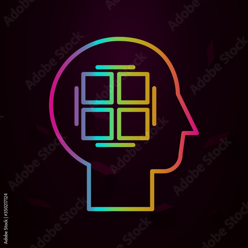 Photo Human, perfectionist in mind nolan icon Simple thin line, outline vector of Huma